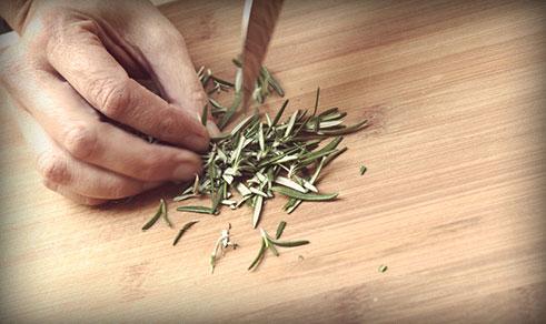 Chopping Rosemary